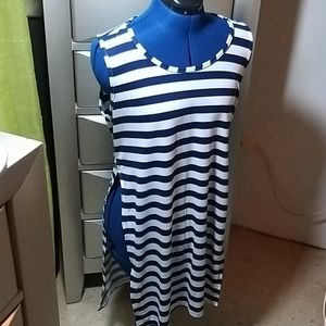 Tops - Striped Navy & White Long Tee size M